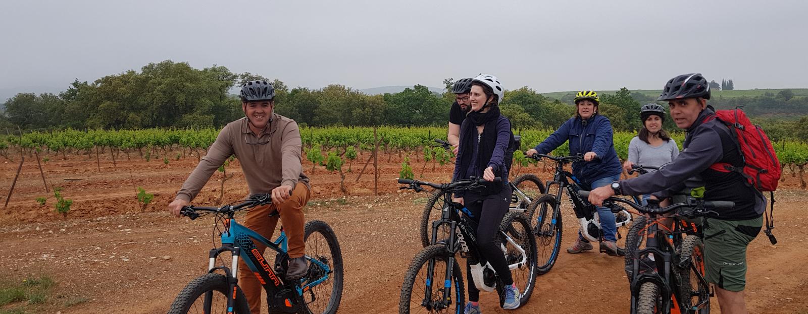 Visite du vignoble Terrassous en vélo électrique