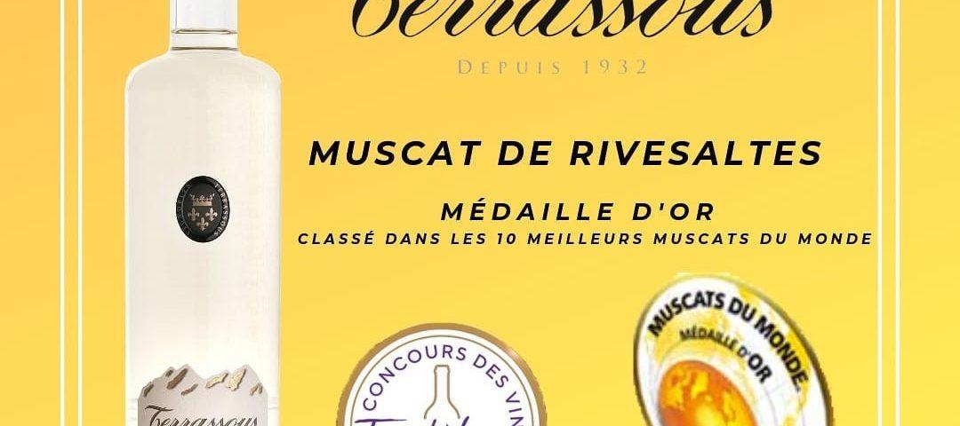 Le Muscat de Rivesaltes 2018 est classé médaille d'or dans les 10 meilleurs muscats du monde
