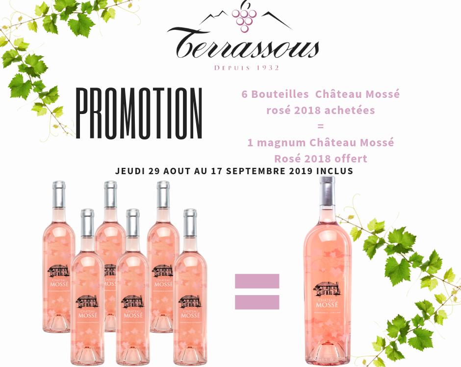 Promotion Château Mossé Rosé 2018